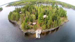 Private 3.5 Acre Island on Lake of the Woods- September Special