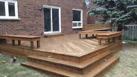 Deck roof gazebo Cedar pergola Pickering Brampton SERVE ALL GTA!