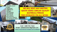 GATINEAU EAVES SOFFIT FASCIA WE WILL BEAT ANY WRITTEN QUOTE