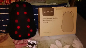 Back massager with kneading and heating