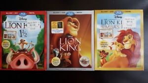 Digital HD Codes - The LION KING 1 , 2 , 1 1/2 - Movies + EXTRAS