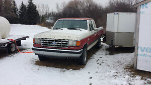 1988 Ford F-150 4x4 Extended Cab & 2006 5' x 8' Utility Trailer