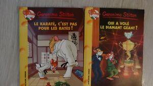 2 livres GERONIMO STILTON Ronaud Bray val $25 excllent