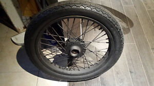 Vintage motorcycle wheel rim and tire cafe racer bobber chopper Sarnia Sarnia Area image 1