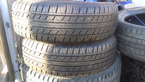 Two new 215 65 17 fuzion tires plus many  other sets