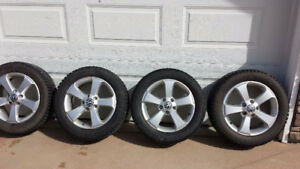 4 Pirelli Winter Tires On VW Mag Wheels