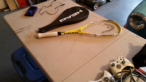 GREAT DEAL! ~ SQUASH ANYONE? HEAD Squash Racquet and Eyewear