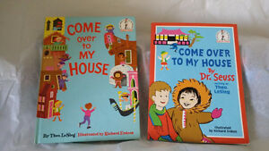 ▀▄▀DR.SEUSS  2 BOOKS Hardcover & Paperback-Come Over to my House