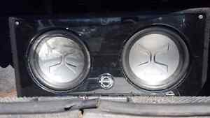 2 12 inch subs with 2 amps