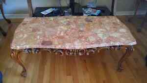 Set of 3 Marble Coffee Tables