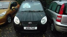 Kia Picanto 1.0 2011 Spice 5 door hatchback 79.000 miles f/s/h 30.00 tax model