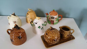 Various Beehive collectibles