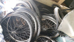 Huge lot of mountain bike tires and rims