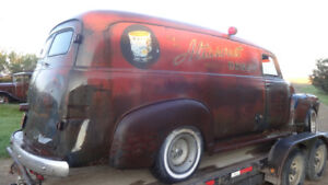 classic 1950 chevy panel truck honey delivery wagon