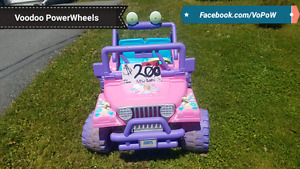 12v power wheels barbie jeep kids ride on