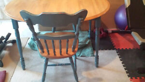 Solid Birch Table Set in Mint Condition St. John's Newfoundland image 3
