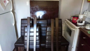 Rectangular dining table and 5 chairs