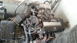 HONDA B16A engine complete swap with GSR tranny
