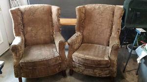Deux fauteuils bergères