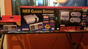 SNES et NES Classic + Manette NES