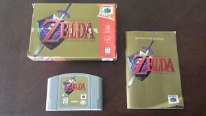 Zelda Ocarina Of Time (N64) With Box And Manual