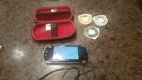 SONY PSP, carrying case, 3 UMD's, charger cable