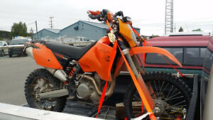 KTM 450 EXC 2007 lots of extras street legal