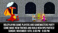 RPG Players and GMs Party!