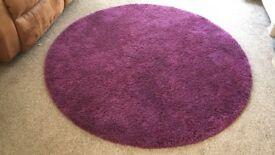 Purple/ Plum Circular Rug