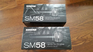 SHURE SM58 Microphone with Cable and Clamp / Clip