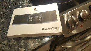 Porsche Cayenne Turbo Owners Manual $40
