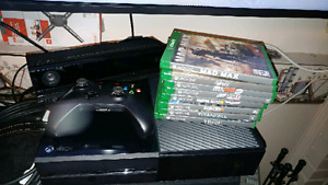 Xbox 1 with Kinect and 8 games