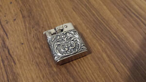 1900's Antique BABY-MYLFLAM lighter decorative casing silver #89