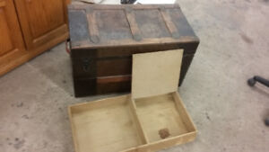 Old steamer trunk. Excellent condition.