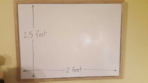 White Dry-Erase Board with Wood Trim