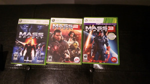 Mass Effect 1, 2, 3 - Xbox 360 - Excellent Condition