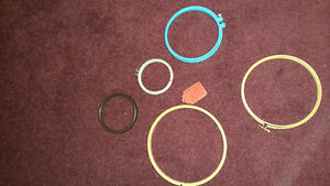 Embroidery hoops/frames - Lot of 5