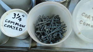 40 buckets of nails