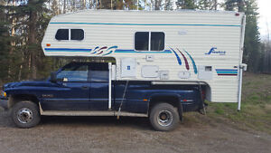 """2000 ram 3500 with 2000 8'10"""" camper"""