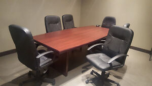 Board room Desk and 6 chairs