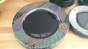 40 Pieces of Black Dishes - Mint Condition ** REDUCED ** Kawartha Lakes Peterborough Area image 2