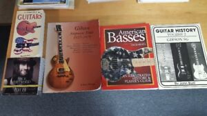 Various guitar and amp reference books