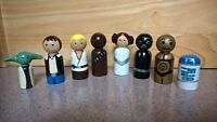 Wooden Hand Painted Peg People