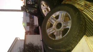20 INCH FORD SUPER DUTY RIMS AND TIRES
