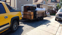 truck and trailer available for moving and or deliveries