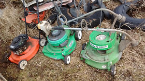 Lawn mower and weed eaters