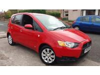 2009 09 MITSUBISHI COLT 1.3 CLEAR TEC 5 DOOR.BRIGHT RED.1 OWNER FROM NEW & F/S/H