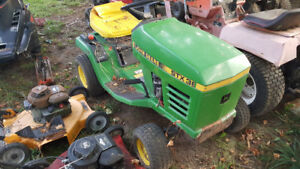 Two John Deere stx 38's for parts/repair.
