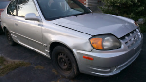 Parting out 2003 hyundai accent gsi