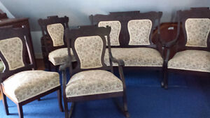 5 pc Antique Settee set - early 1900's